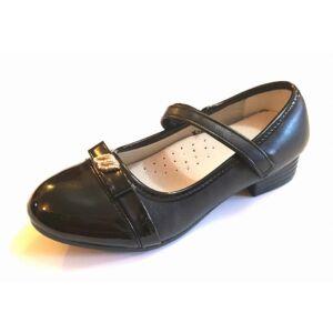 629e3b5872 Fekete alkalmi cipő lányoknak - Zárt gyerekcipő lányoknak ...