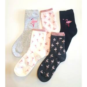 női zoknik flamingo mintával