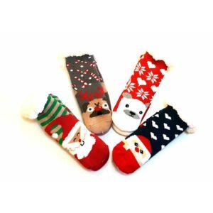 Pihe-puha karácsonyi mintás pamut vastag zoknik