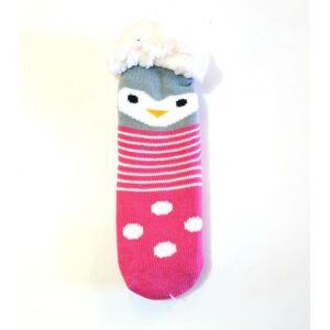 Pihe-puha meleg téli bundás szobazokni - pink, kismadaras