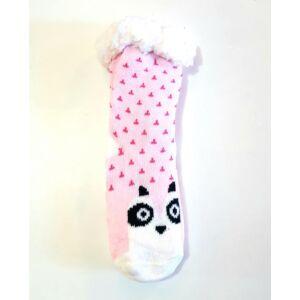 Pihe-puha meleg, téli, bundás szobazokni kislányoknak - rózsaszín, jegesmedvés
