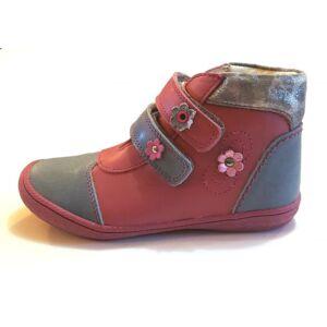 30-as LINEA magas szárú cipő lányoknak - szürke-piros - virágos