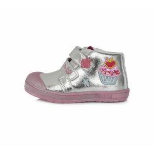 22-27 Ponte20 supinált gyerekcipő lányoknak - Ezüst - Muffin mintával
