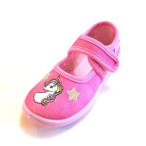 Richter vászoncipő, benti cipő - pink, Unikornis