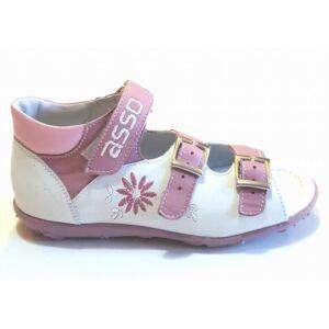 ca17c7f201 ASSO lány szandál - 2217 - fehér/ rózsaszín - UTOLSÓ PÁR! Katt rá a  felnagyításhoz
