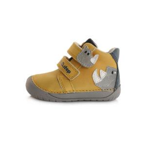 ddstep cipő barefoot orrszarvú mustár sárga