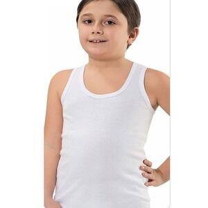 41bbc5e62a Fehér atléta trikó fiúknak 100% pamut anyagból