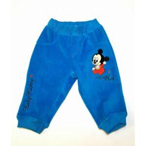 Plüss tréningnadrág - Mickey - világoskék