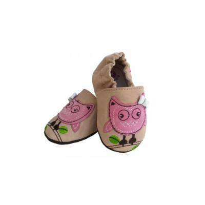 D.D.STEP bőr puhatalpú babacipő - mamusz - Baby Pink