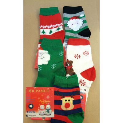 Karácsonyi zokni szett - 3 db - különböző ünnepi mintával