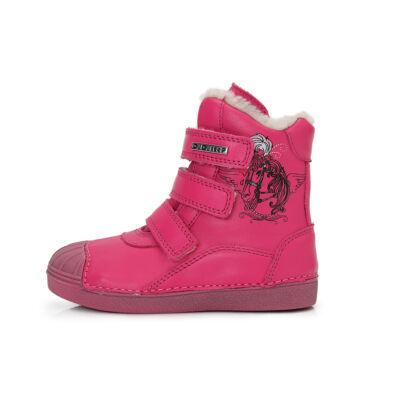 31-es DDSTEP téli bundás gyerekcipő - dark pink - 043-508C - UTOLSÓ PÁR!
