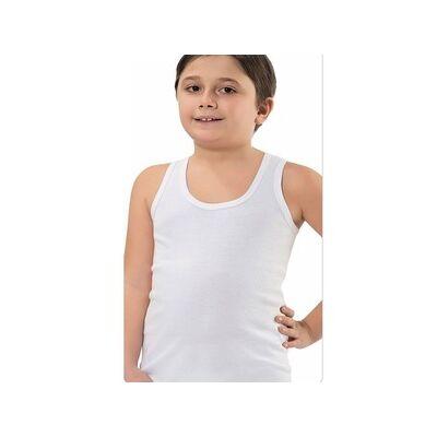 fehér atléta trikó fiúknak