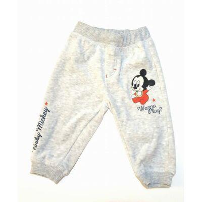 Plüss tréningnadrág - Mickey - szürke