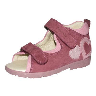 25-27 SZAMOS szupinált szandál lányoknak - Mályva-Pink