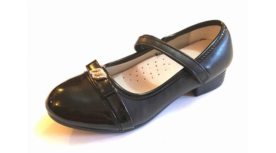 Fekete alkalmi cipő lányoknak - Zárt gyerekcipő lányoknak ... fbdbb7bcab