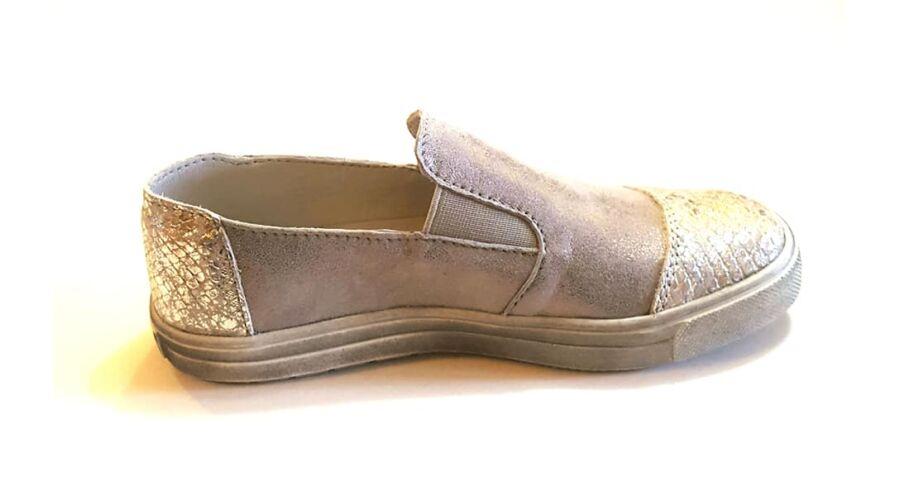 37df9be795 31-40 Női Slip-on bebújós bőrcipő - silver
